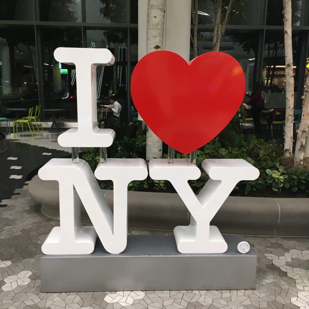 I LOVE NEW YORK SIGN