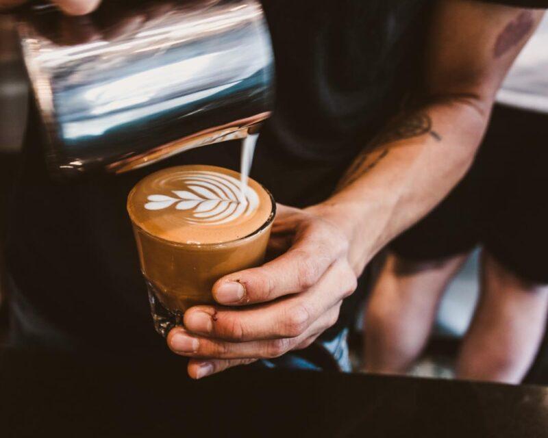 Latte Pulling Irving Farm