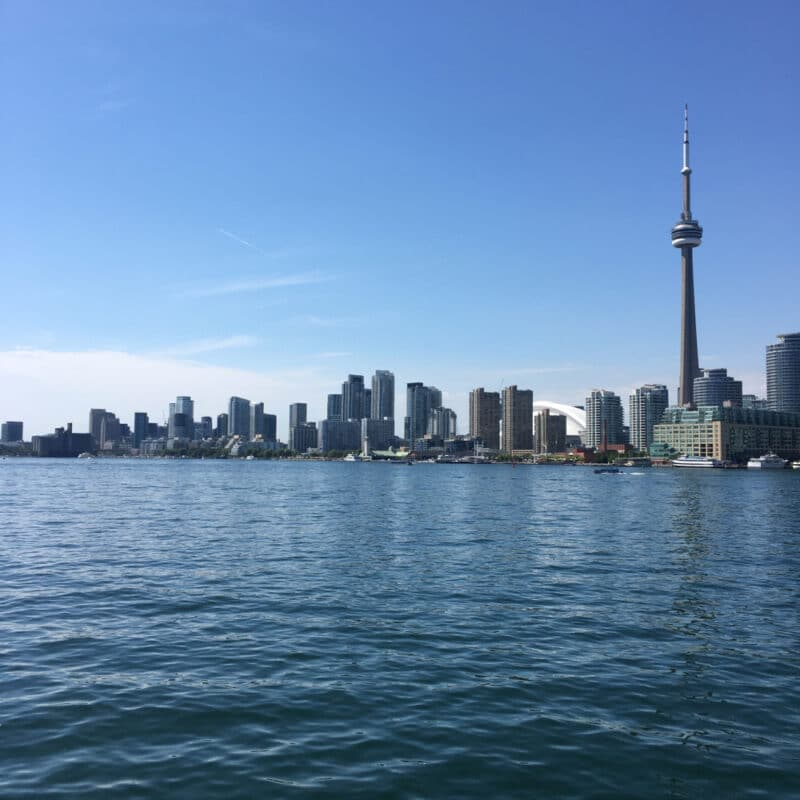 Toronto islands ferry view 3