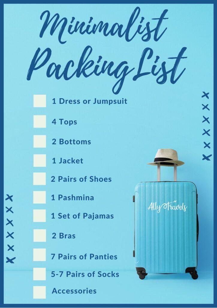 Minimalist Travel Wardrobe Packing List