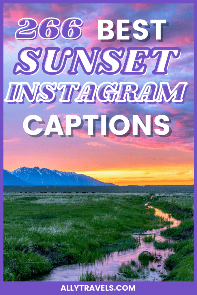 266 Best Sunset Captions For Instagram: Ideas for Everone!