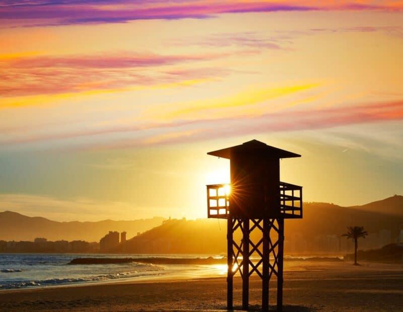 beach lifeguard sunset
