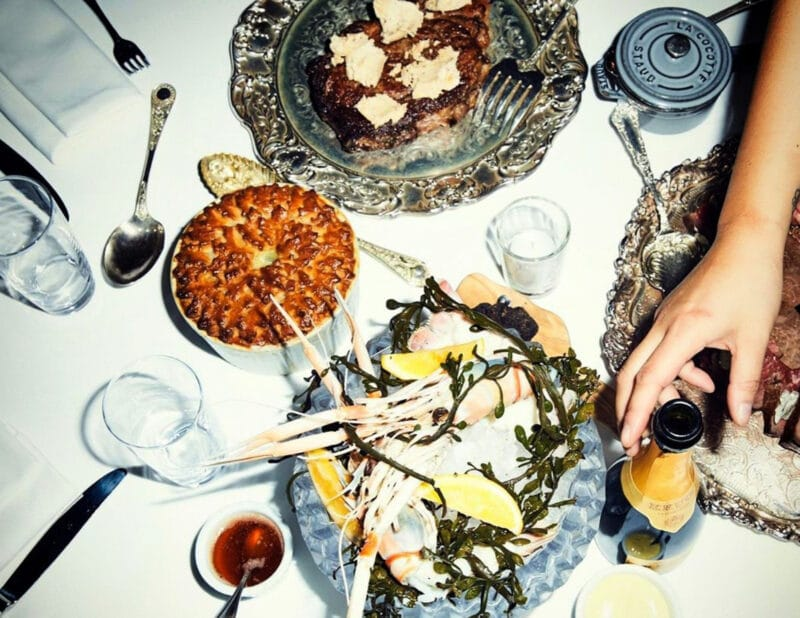 beatrice inn dinner table nyc