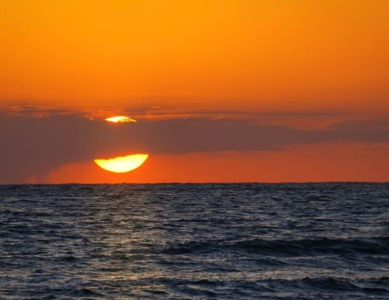big sun sunset