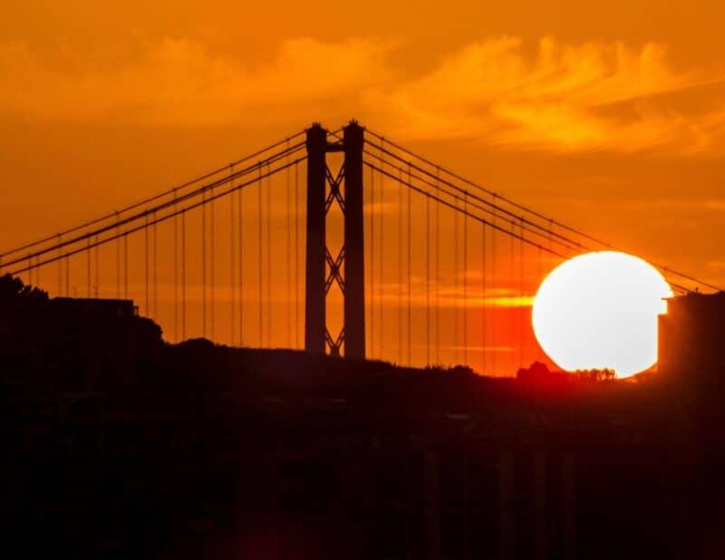 bridge sunset