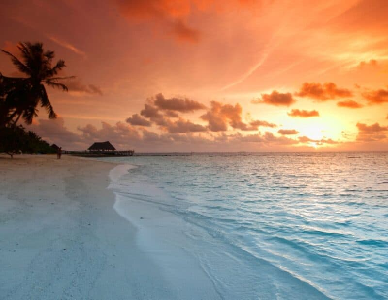 dreamy beach sunset