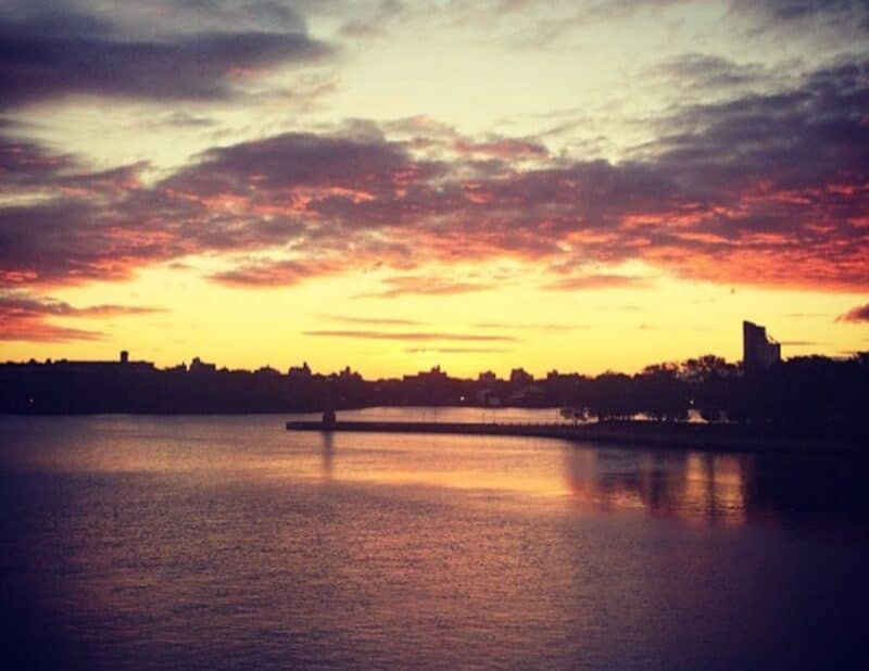 east river nyc sunset