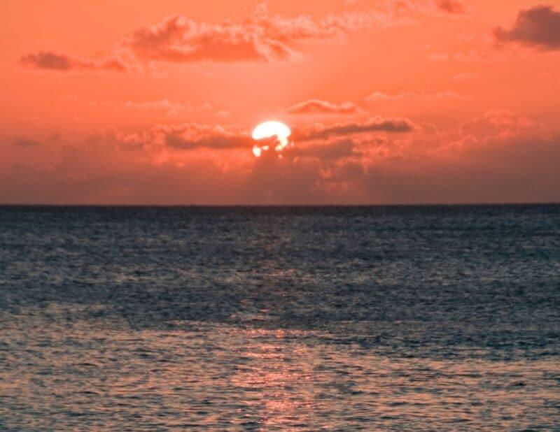 pink oacean sunset