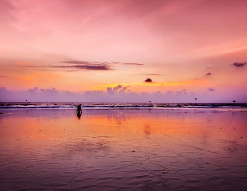 pink purple sunset