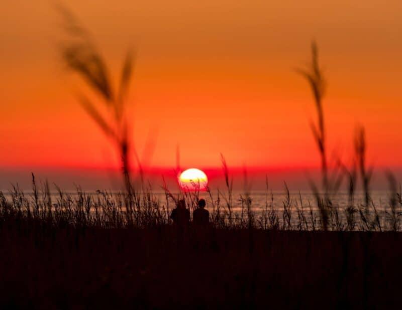 southern sunset couple