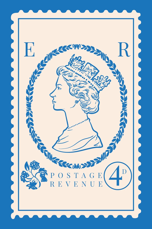 England-Stamp - featuring Queen Elizabeth