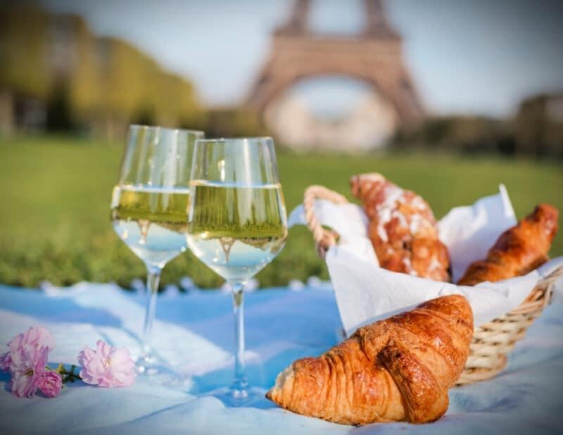 Paris Croissant picnic by Eiffel Tower 2
