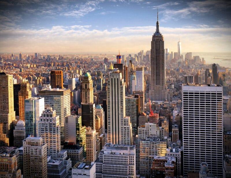 nyc skyline empire state