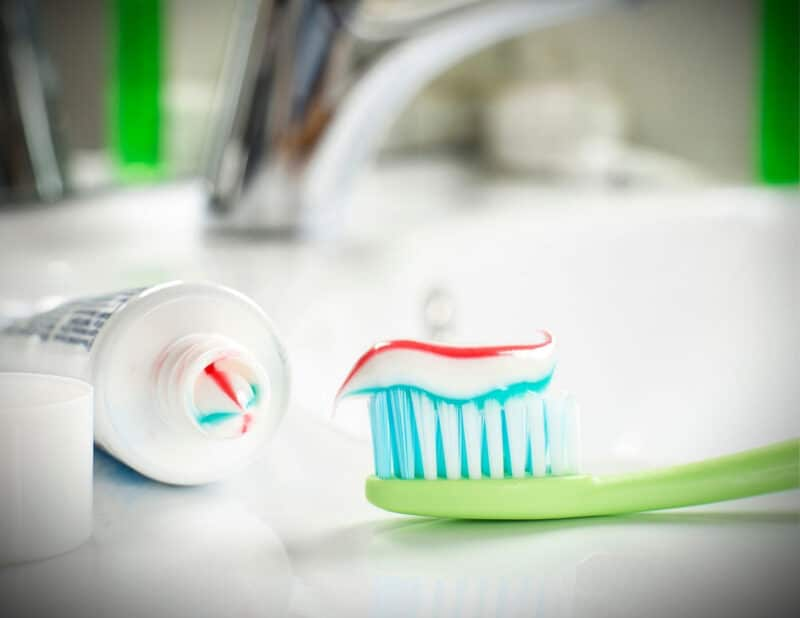 travel toothbrush green