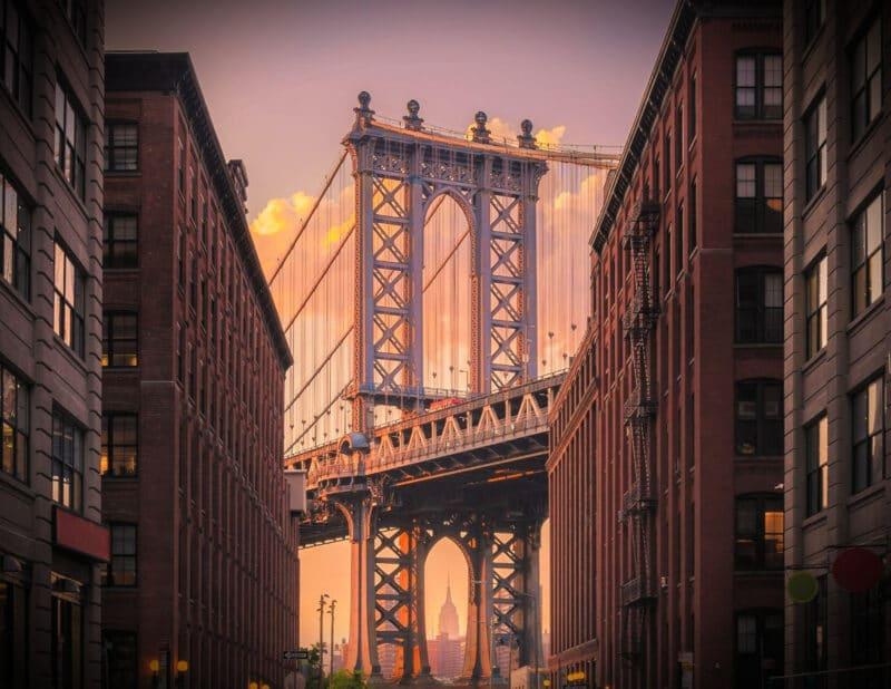 BROOKLYN BRIDGE NYC SUNSET 2
