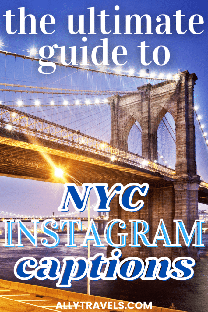 Brooklyn Bridge at Sunset - Best NYC Inastagram Captions