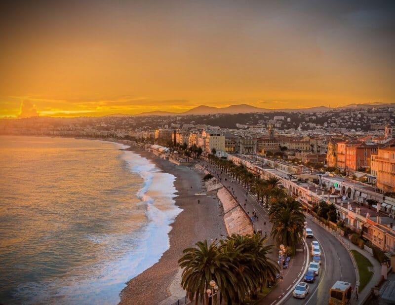 Nice Sunset France