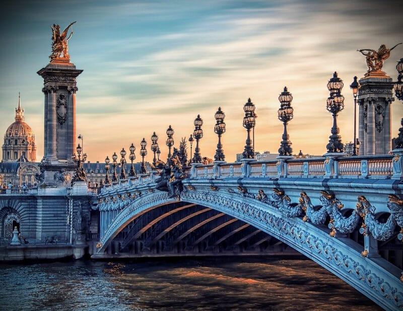 Paris Sunset Pont Alexandre Bridge 2