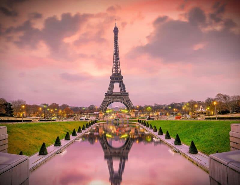 Tower at Sunset Paris