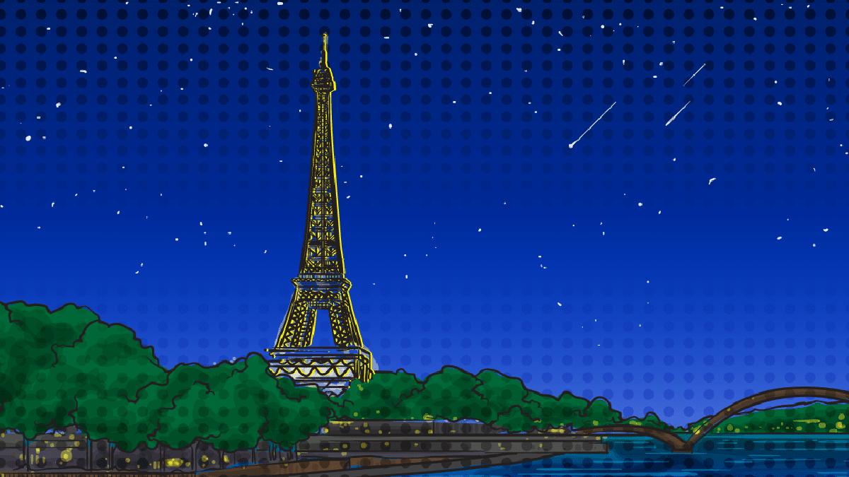 nightlife-in-paris-cartoon of eiffel tower at night.png