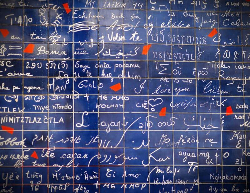 Wall of Love Paris France