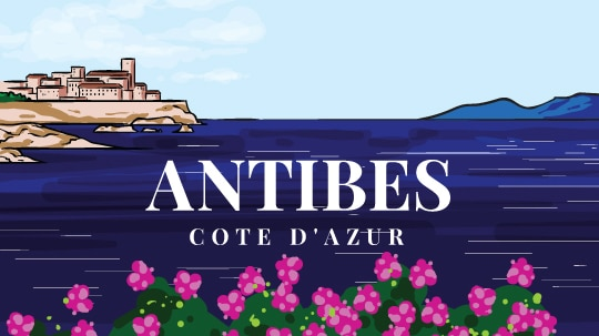 Antibes-Postcard - south of france - beach